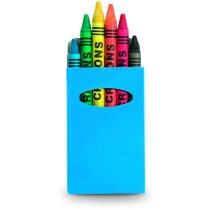 Caja de ceras en varios colores personalizada