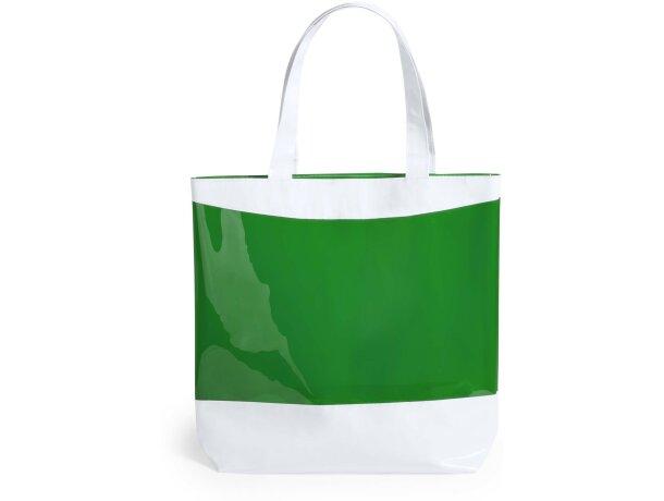 Bolsa de plástico PVC verde
