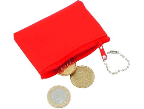 Monedero sencillo de colores rojo personalizada
