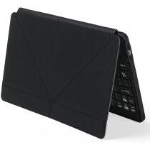 Teclado de polipiel con soporte negro con logo