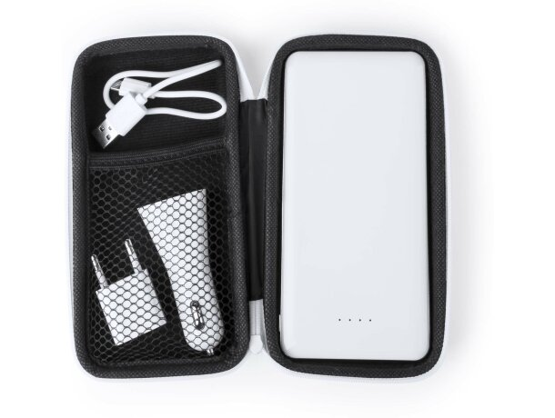 Estuche powerbank en blanco
