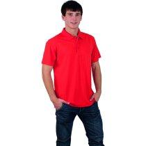 Polo de manga corta tejido técnico unisex 180 gr personalizado rojo