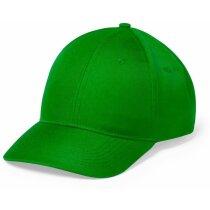Gorra de 6 paneles de microfibra grabada verde
