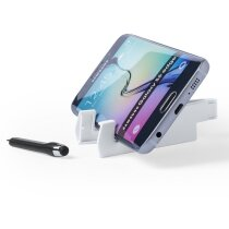 Soporte para móvil con bolígrafo puntero personalizado blanco