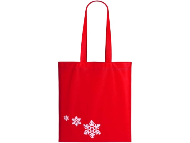 Bolsa navideña con copos de nieve