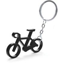 Llavero con forma de bicicleta negro