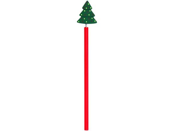 Lápiz de madera navideño