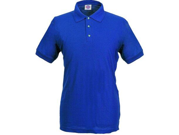 Polo manga corta tejido mixto de hombre 220 gr personalizado azul