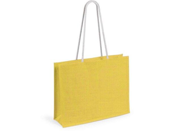 Bolsa de yute en varios colores amarilla