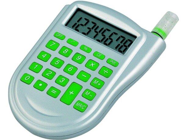 Calculadora ecológica con agua personalizada