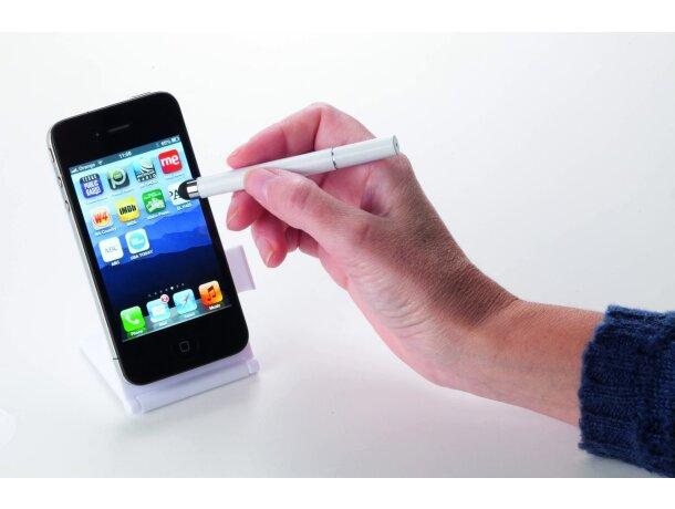 Soporte con bolígrafo puntero para móvil