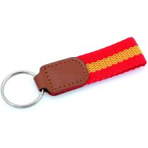 Llavero con cinta de poliéster bandera de España