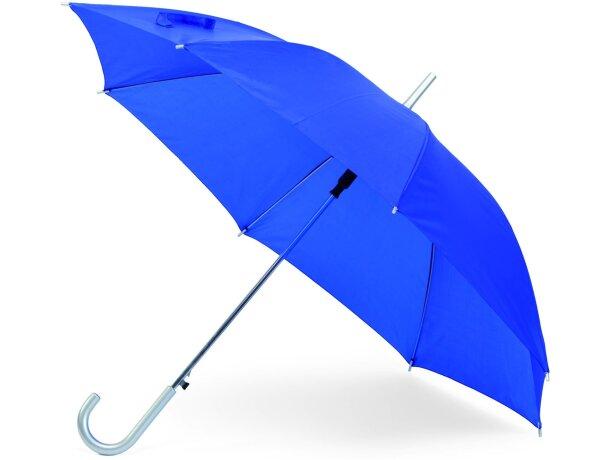 Paraguas para serigrafiar en 1 o varios gajos personalizado azul