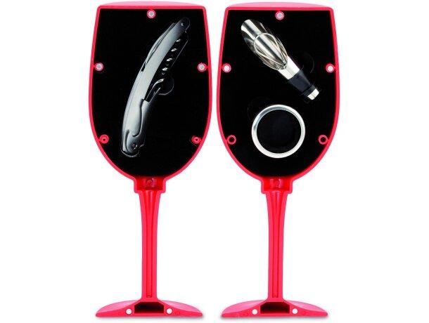 Set de vino de 3 piezas en caja con forma de copa personalizado