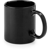Taza de cerámica especial de desayuno de colores negra