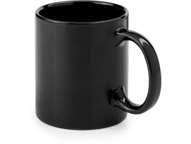 Taza de cerámica especial de desayuno de colores negra personalizado