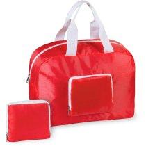 Bolsa de viaje o deporte plegable personalizada roja