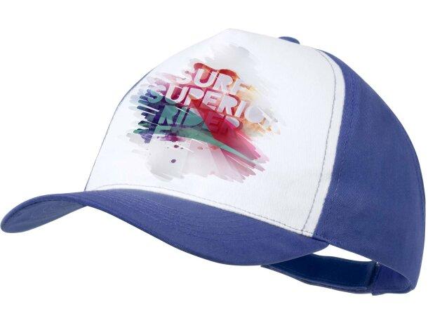 Gorra sencilla para imprimir a todo color azul