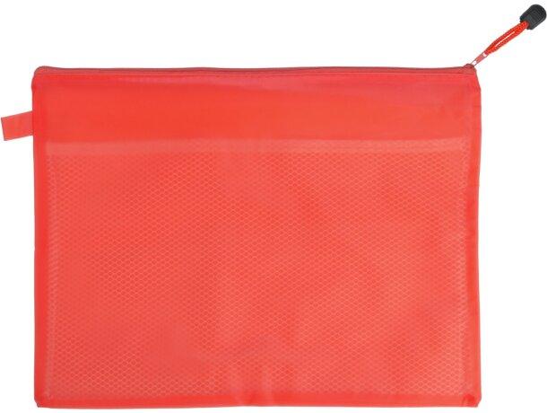 Portadocumentos en varios colores con logo bonx rojo