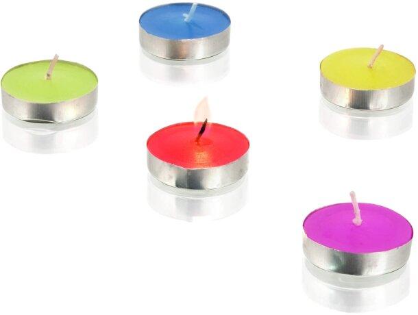 Set de velas de colores mini personalizado