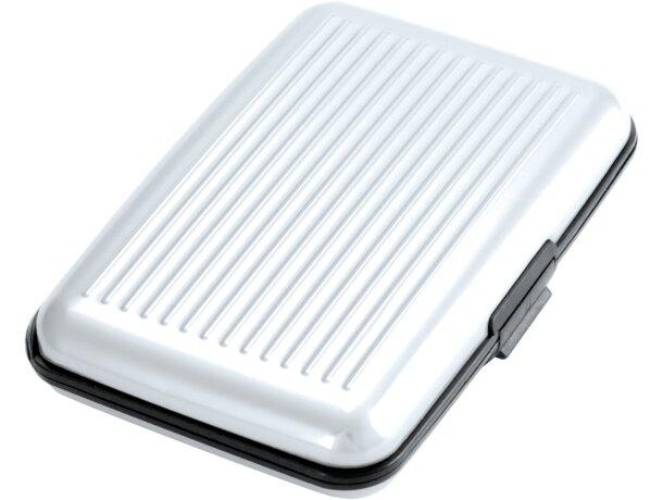 Tarjetero para empresas de aluminio interior de acordeón personalizado blanco