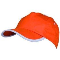 Gorra sencilla de algodón con detalles de color grabada