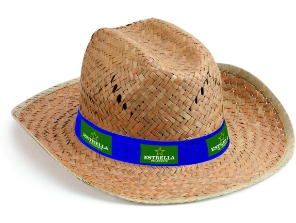 Sombrero de paja oscura personalizado