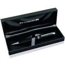 Bolígrafo en acabado metalizado con estuche de la marca Antonio Miró personalizado