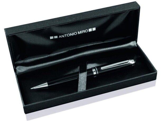 Bolígrafo en acabado metalizado con estuche Antonio Miró barato