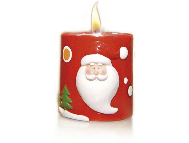 Porta velas de cerámica con motivos navideños