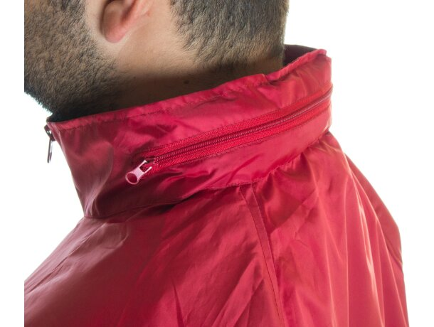 Impermeable con capucha ajustable personalizado