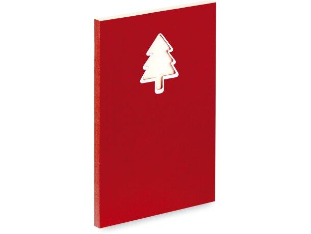 Bloc de notas con detalle de Navidad grabado