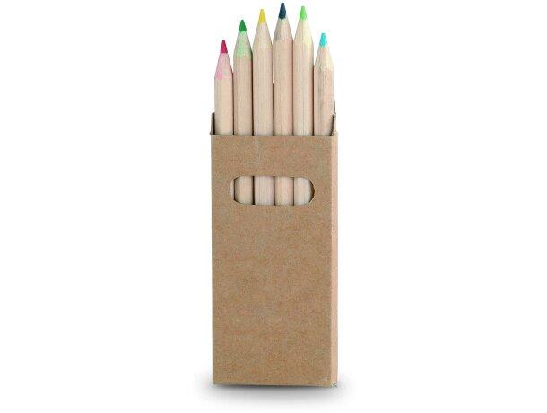 Caja de lápices de madera de colores personalizada