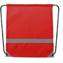 Mochila alta visibilidad con cordones roja