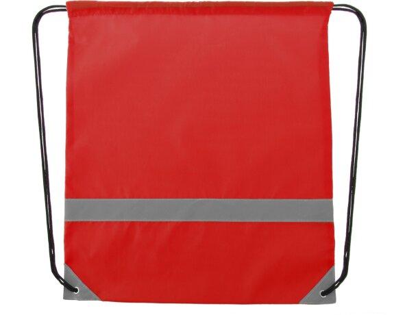 Mochila alta visibilidad con cordones roja personalizado
