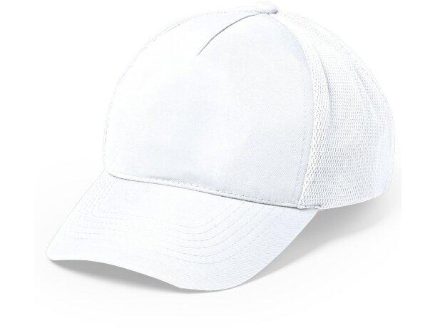 Gorra de poliester de 5 paneles personalizada blanca