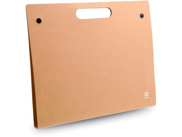 Carpeta de cartón con cierre de botón