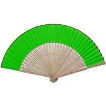 Abanico con varillas de bambú personalizado