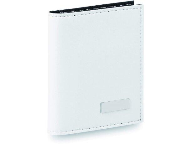 Set de notas con tapas de polipiel personalizada blanca