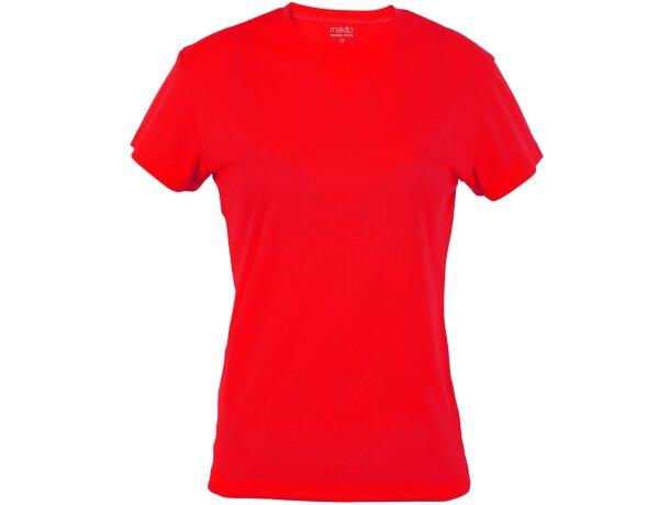 Camiseta de mujer técnica roja