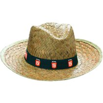 Sombrero de paja oscura estandar personalizado