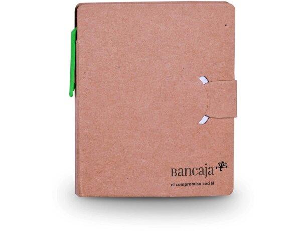 Bloc de notas con marcadores y bolígrafo reciclado personalizada