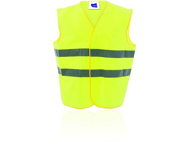 Chaleco reflectante unisex en amarillo merchandising