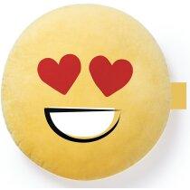 Cojín emoticono amarillo personalizado