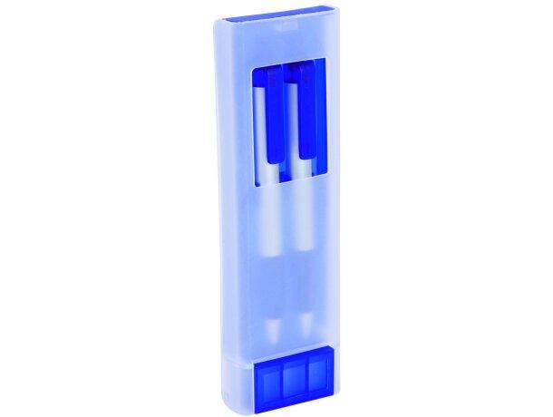 Estuche transparente de bolígrafo y portaminas personalizado