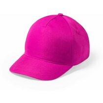 Gorra básica de algodón en 5 paneles personalizada fucsia