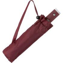 Paraguas con sistema antiviento personalizado rojo