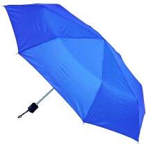 Paraguas con funda plegable personalizado azul