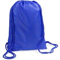 Mochila saco con cuerdas del mismo color merchandising azul