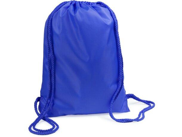 Mochila saco con cuerdas del mismo color con logo